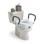 "Clamp On Raised Toilet Seat With  Arms, 5"" - Invacare Toilet Safety Products, including raised toilet seat"