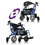 Airgo® Fusion 2-in-1 Side-Folding Rollator & Transport Wheelchair - The Airgo® Fusion™ allows you to remain social and